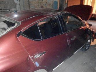 نيسان صني 2016 حوادث سيارات